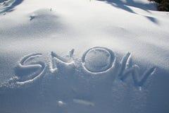 Snö med bokstäver Royaltyfri Fotografi