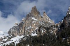 Snö når en höjdpunkt och fördunklar Arkivbilder