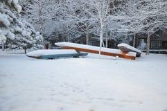 Snö och blyertspennor Fotografering för Bildbyråer