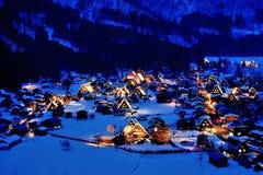 Snö och natt Royaltyfria Bilder