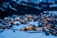 Snö och natt Arkivbilder