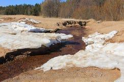 Snö och sand fem arkivfoto