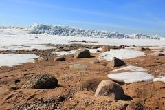 Snö och sand tre royaltyfri fotografi