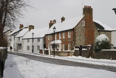 Snö på Broadwater. Worthing. UK Arkivfoton