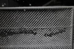 Snö på ett staket royaltyfri fotografi
