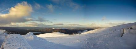 Snö på fjällriparestaurangen, Cairngorm Fotografering för Bildbyråer