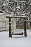 Snö på gunga Fotografering för Bildbyråer