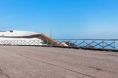 Snö på krater på Mount Etna Fotografering för Bildbyråer