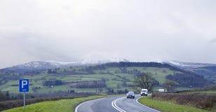 Snö på kulleblasten Arkivbilder