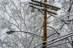 Snö på Pole Arkivbilder