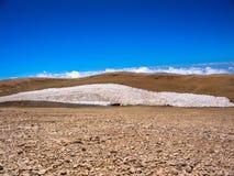 Snö på Qurnat som Sawda Arkivbild
