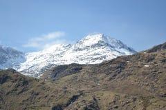 Snö på Snowdon arkivbilder