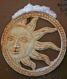 Snö på solframsida Royaltyfria Foton