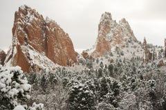 Snö på trädgården av gudarna Royaltyfria Bilder