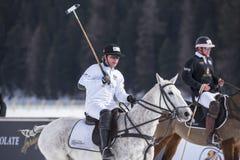 Snö Polo Cup Sankt 2017 Moritz Arkivbild