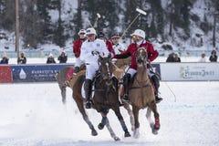 Snö Polo World Cup Sankt Moritz 2016 Royaltyfri Foto