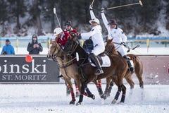 Snö Polo World Cup Sankt Moritz 2016 Arkivbild
