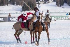 Snö Polo World Cup Sankt Moritz 2016 Fotografering för Bildbyråer
