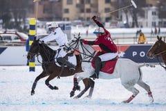 Snö Polo World Cup Sankt Moritz 2016 Royaltyfri Fotografi