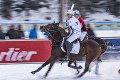 Snö Polo World Cup Sankt Moritz 2016 Royaltyfria Bilder