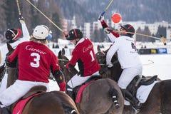 Snö Polo World Cup Sankt Moritz 2016 Royaltyfria Foton