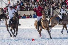 Snö Polo World Cup Sankt Moritz 2016 Arkivfoton