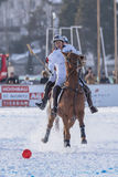 Snö Polo World Cup Sankt Moritz 2016 Arkivbilder