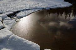 Snö sjö Royaltyfri Foto