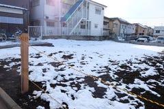 Snö som malas i Tokyo, Japan royaltyfri bild