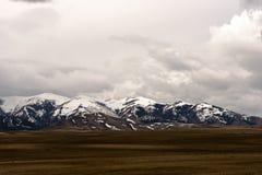 Snö-täckt bergskedja i Utah Arkivfoton