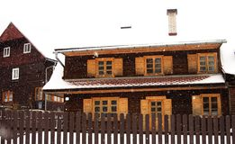 Snöa nära vid stora Rozutec Royaltyfria Bilder