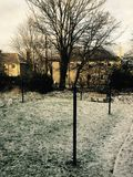 Snöafton Arkivfoto