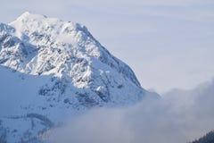 Snöberg i Österrike Fotografering för Bildbyråer