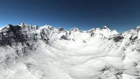 Snöberg på kullen Arkivfoto