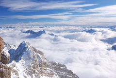 Snöberg, Zugspitze, Tyskland Arkivbild