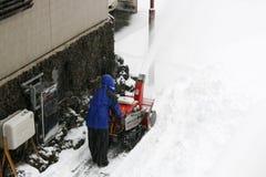Snöblåsare Arkivbilder