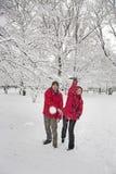 Snöbollkamp Royaltyfri Foto