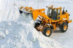 Snöborttagning arkivbilder