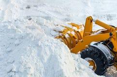 Snöborttagning Arkivbild