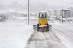 Snöborttagning Arkivfoto