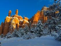 Snöbrandsoluppgång Arkivfoton