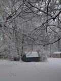 Snödag Arkivbild