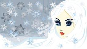 Snödrottning royaltyfri illustrationer