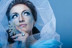 Snödrottning och snöflinga Royaltyfria Bilder
