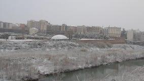 Snöfall på Benevento stock video