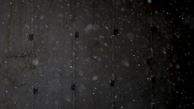 Snöfall på svart bakgrund lager videofilmer