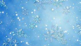 Snöflinga lager videofilmer