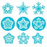 Snöflinga vektor illustrationer