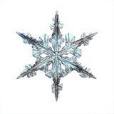 Snöflinga för kristall för naturlig is royaltyfri illustrationer