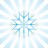 Snöflinga med blåa band Arkivfoto